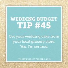 WEDDING BUDGET TIPS   The Budget Savvy Bride