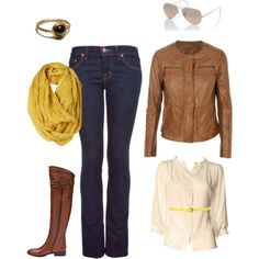 Love the warmth of this look...big on cognac leather at the moment
