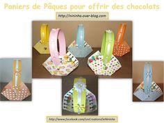 Petits paniers réalisés à l'occasion de Pâques, mais peut servir pour tout autre occasion.