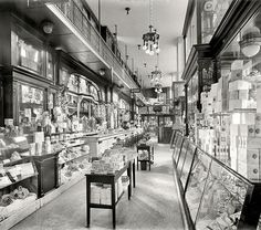 Awesome Drug store in the old Penn Station, NYC, c.1915