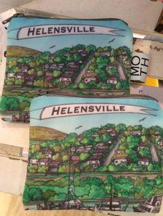Helensville, coin purse, exclusive, local art, local design, local Kiwiana, Coins, Coin Purse, Purses, Room, Design, Art, Handbags, Bedroom