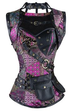 Cheap women steampunk, Buy Quality steampunk corset directly from China corset plus Suppliers: New Sexy Women Steampunk Corset Punk Purple Black Faux Leather Floral Steel Boned Bustiers Lace Up Plus Size Waist Trainer Moda Steampunk, Style Steampunk, Steampunk Costume, Gothic Steampunk, Steampunk Clothing, Steampunk Fashion, Gothic Fashion, Trendy Fashion, Fashion Trends