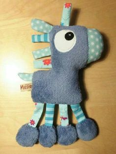 Horse with little tabs - blue hand-made creation .- Horse soft toy with small tabs – blue handmade creation: Games, soft toys, stuffed toys by melomelie - Sewing Stuffed Animals, Stuffed Toys Patterns, Baby Sewing Projects, Sewing For Kids, Fabric Toys, Fabric Crafts, Sewing Toys, Sewing Crafts, Baby Toys