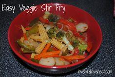 New! Easy Veggie Stir Fry #ontheblog #veggies #foodfriday #recipe