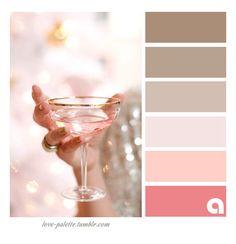 Use this palette with rose gold metallic Colour Pallete, Colour Schemes, Color Combos, Color Palettes, Pink Palette, Color Balance, Color Harmony, Color Concept, Champagne Color