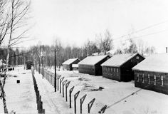 Double wire fencing features the camp-like atmosphere of the internment centre at Petawawa. As in World War I, the military base operated a prison camp for war prisoners. During WWII, 'Internment Camp No. was home to 645 prisoners, most of them German. Camps, World War I, Fencing, Prison, Wwii, Toronto, Centre, German, Canada