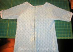 Tutorial for sleep sack with sleeves