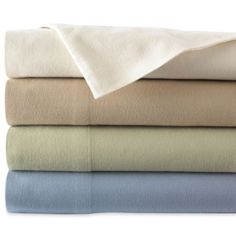 jcpenney | JCPenney Home Solid Flannel Sheet Set