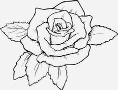 flower outline tattoos rose outline tattoo stencil line art design rh pinterest com black rose tattoo stencils stencil tattoo rose