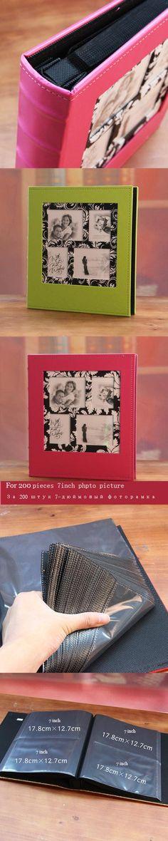 Leather photo album in this 5r 7 large capacity baby lovers photo album child memorial