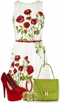 what color shoes to wear with red dress - cute dresses outfits Mode Outfits, Dress Outfits, Fashion Dresses, Classy Outfits, Beautiful Outfits, Look Fashion, Womens Fashion, Spring Fashion, Fashion Trends