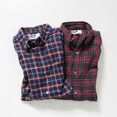 Engineered Garments Tab Collar Shirts - Viyella Plaid