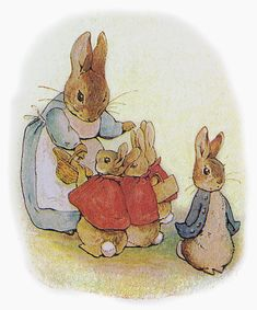 "Beatrix Potter, illustration for ""The Tale of Peter Rabbit"""