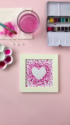 DIY Watercolor Heart Art