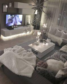 Wohnzimmer grau-weiß | Living Room | Pinterest