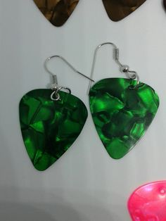 Guitar Pick Earings  $6.99 a pair. Available from our website travelerswagon.com and at our Etsy Store Traveler's Wagon