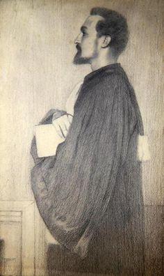 Fernand Khnopff. Portrait of a Man