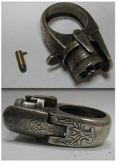 i dun like guns, but how fecking James Bond is this gun ring