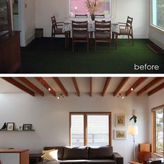 Before + After:  dining room to living room