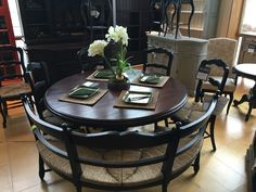 Lovely Furniture In Knoxville   Bradenu0027s Lifestyles Furniture  Round Dining Table  With Curved Bench Seat
