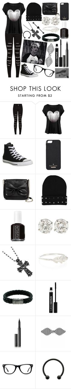 """Rock Star Wars W/ Dalton (Black & White Style)"" by dalton-rapattoni-outfits-imagine ❤ liked on Polyvore featuring Converse, Kate Spade, Sam & Libby, Essie, Accessorize, John Hardy, Anastasia, Surratt and Muse"