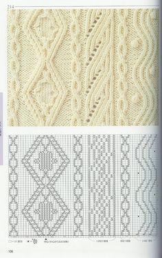 "diy_crafts-beautiful knitting patterns - chart: ""Lace/Cable Chart to Try knitting patterns collection mintagyüjtemény"", ""Lace/Cable Tutorial f Knitting Stiches, Cable Knitting, Knitting Charts, Crochet Stitches, Hand Knitting, Knitting Patterns, Crochet Patterns, Crochet Cable, Knit Or Crochet"
