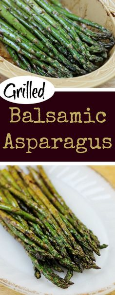 Grilled Balsamic Asparagus - an easy grilled asparagus recipe #asparagus #grilling via @MomFoodie
