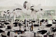 Amazing Black and White Ideas | Table decor | Astra Bridal Featured Bride Holly | Photography by Bihn Trin | www.borrowedandblue.kiwi
