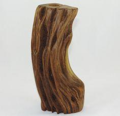 Handcrafted Osage Orange or Bois DArc Wood Dry Vase or Candle Holder