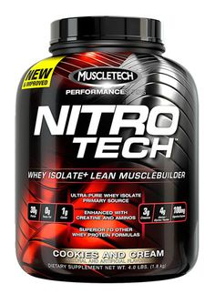MuscleTech Nitro-Tech™ Performance Series Cookies & Cream -- 4 lbs - Vitacost
