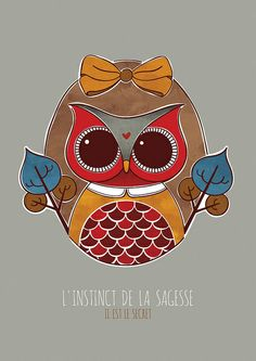 Sage by Fernanda Sponchiado, via Flickr ...not sure what it says but I love the owl