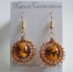 The World in a Glass Bubble Earrings one Pair | NatureCornerstore - Jewelry on ArtFire