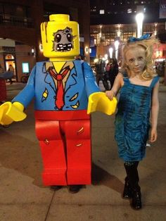Picture of Zombie Lego Minifigure Costume