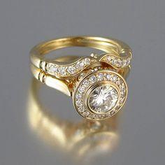 EL secreto deleite 14k amarillo oro anillo de por WingedLion