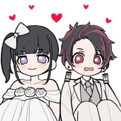 Anime Girl Neko, Anime Chibi, Manga Anime, Anime Art, Demon Slayer, Slayer Anime, Anime Wedding, Demon Hunter, Anime Demon