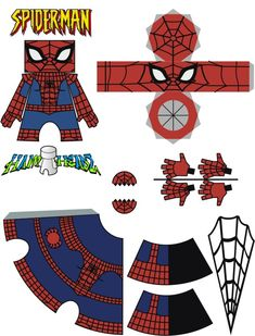 Spider-Man template by Newobmij on DeviantArt - Visit to grab an amazing super hero shirt now on sale! Spiderman Craft, Imprimibles Toy Story Gratis, Easy Crafts For Kids, Art For Kids, Hero Crafts, Toy Art, Camping Crafts, Superhero Party, Paper Models