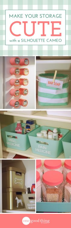Delicieux 3 DIY Storage Projects Made With The Silhouette Cameo Storage Ideas, Diy  Storage Labels,