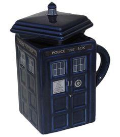 Doctor Who Tardis Mug with removable lid