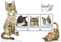 Postset Franciens katten 3 - Postsets - Postzegelproducten