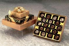 Buy best gourmet truffle chocolate 28 piece gift basket box available in two different sizes to fit any budget from our online gift store Love Chocolate, Chocolate Gifts, Chocolate Truffles, Chocolate Lovers, Thank You Gift Baskets, Mother's Day Gift Baskets, Thank You Gifts, Corporate Gift Baskets, Corporate Gifts