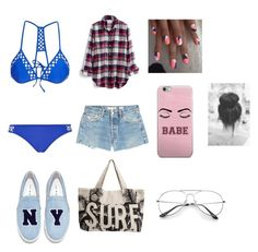 """""""Beach Day 3"""" by devonjenabbi on Polyvore featuring Topshop, Madewell, RE/DONE, Joshua's and Rip Curl"""