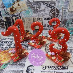 Vela decorada PicNic - Pronta Entrega - Paty's Biscuit