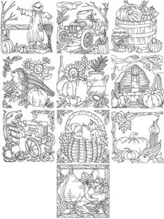 Advanced Embroidery Designs - Autumn Redwork Set III - perfect for this fall! Crewel Embroidery, Hand Embroidery Patterns, Vintage Embroidery, Cross Stitch Embroidery, Machine Embroidery Designs, Geometric Embroidery, Zentangle, Advanced Embroidery, Embroidery Transfers