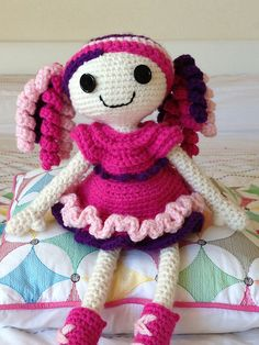 "Lalaloopsy or Lalaloopsie Doll 40cm tall ~  Free Amigurumi Pattern PDF Version ( click ""download"" or ""free Ravelry Download"") here: http://www.ravelry.com/patterns/library/lalaloopsy-doll-or-not"
