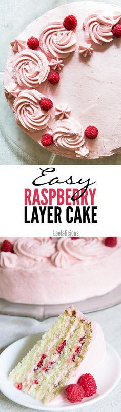This easy Raspberry Layer Cake is a simple, yet elegant show stopper that uses seasonal berries in the best way possible. Delicious vanilla butter cake layers paired with a naturally colored raspberry cream cheese frosting.