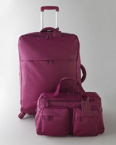 Fuchsia Luggage Collection by Lipault at Neiman Marcus.