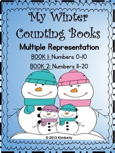 My Winter Counting Books (Numbers 0-10 & 11-20) Includes 2 Books #winter #kindergarten #interactivemath #math #commoncoremath #multiplerepresentation