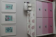 Project Nursery - Pink Ombre Dresser with Aqua Knobs