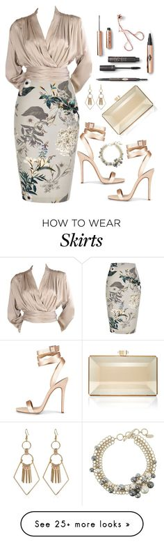 """Untitled #794"" by ashantay87 on Polyvore featuring River Island, Yves Saint Laurent, Judith Leiber and Lanvin"