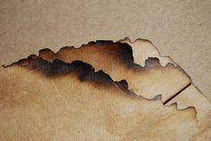 Burnt paper edges